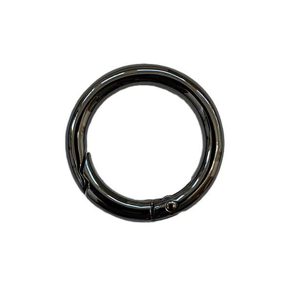 Inel metalic tip carabină culoarea negru 30 mm