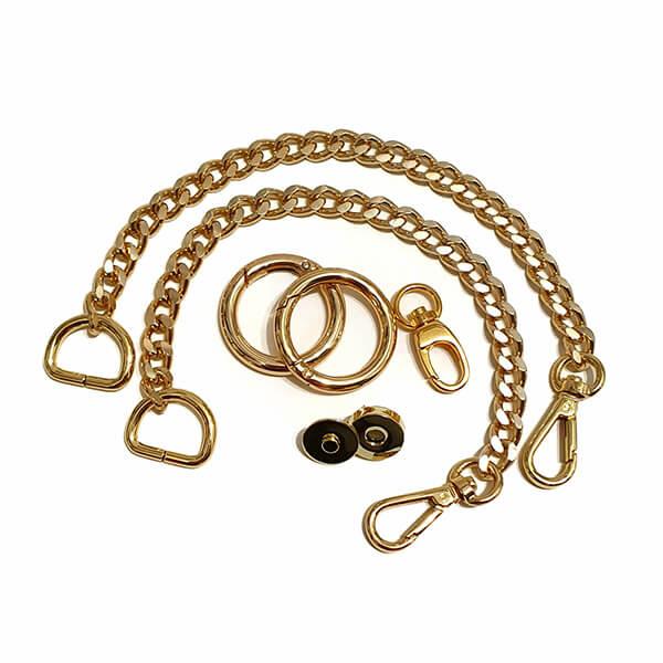Set accesorii metalice pentru poșetă tip Marshmallow