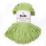 Şnur plin din bumbac premium 5 mm - Lămâie Verde