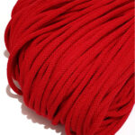 Şnur plin din bumbac premium 5 mm - Roșu