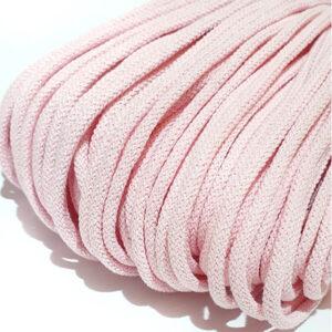 Şnur plin din bumbac premium 5 mm - Roz delicat