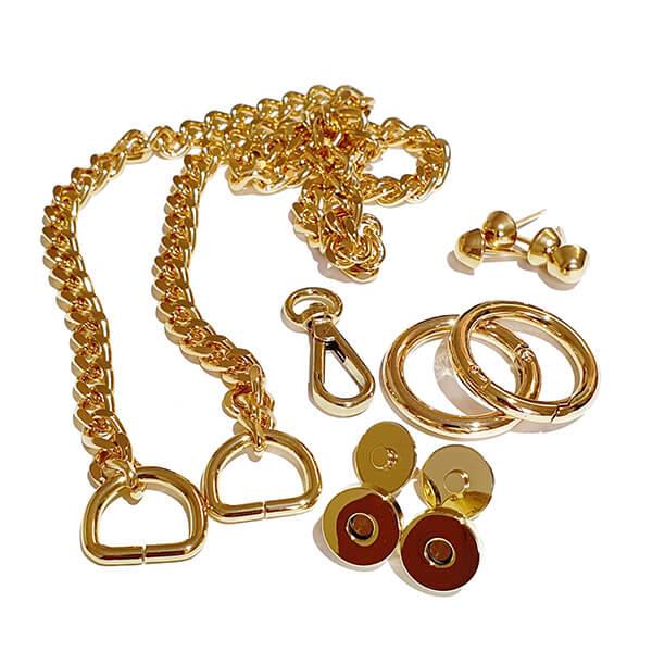 Set accesorii metalice ORO pentru geanta stil bottega