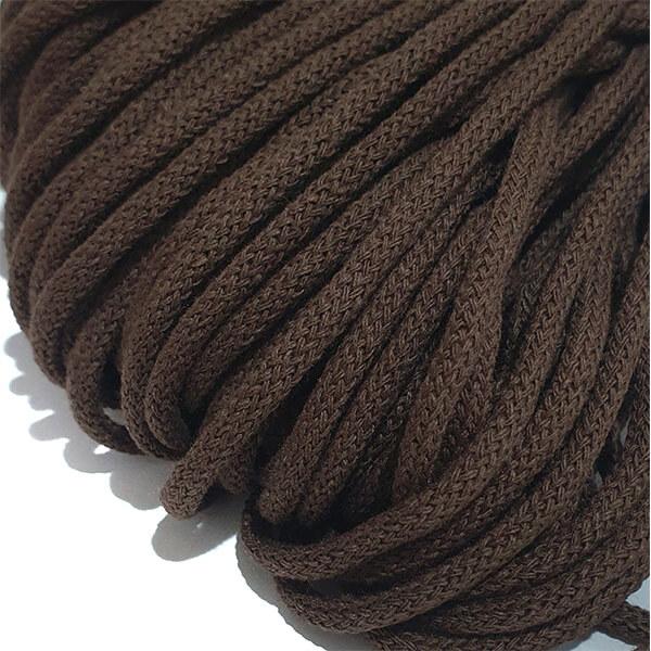 Şnur plin din bumbac premium 3 mm - Ciocolată
